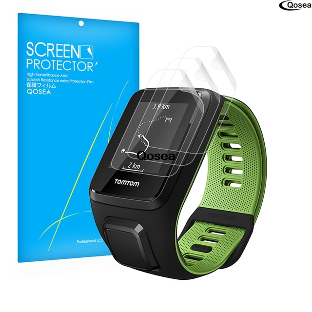 3 Pack For Tomtom Runner Gps Screen Protector Film 3x Clear Lcd