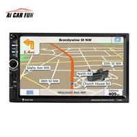 7020G 7 1 DIN 1024 600 Touch Screen Car Radio DVD MP5 Video Player Rear CamBluetooth