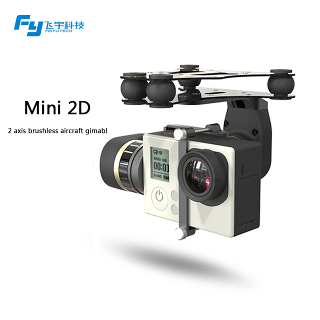 FeiyuTech MINI 2D 2 axis brushless gimbal for drone helicopter quadcopter fixed wing DJI phantom 1 2