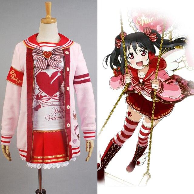 LoveLive! Love Live Valentine's Day Yazawa Nico Uniform Halloween Christmas Cosplay Costume For Women Girls full set