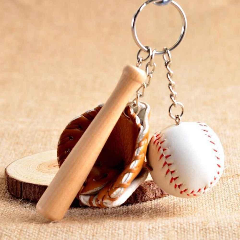 Bola de beisebol música nota chaveiro charme pingente decorativo chaveiro anel apto chaveiro saco pingente música nota chaveiro