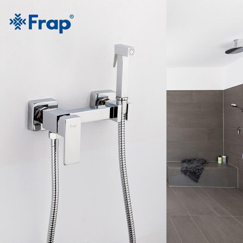 Frap 6 estilos latón solo frío y agua caliente Esquina de bidé grifos función mano cabeza de ducha grifo grúa para mujer