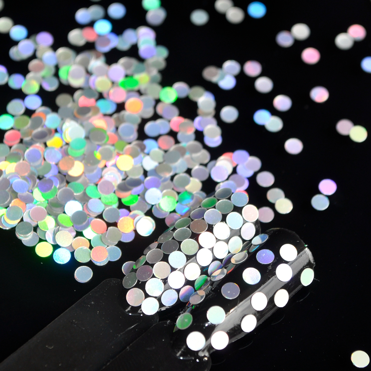 2.5mm Nail Round Sequins Laser Silver DIY Nail Art Glitter Seqiuns Holographic Nails Decoration D8069
