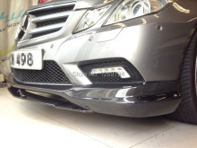 W207 C207 Carbon Fiber Front  Lip  Spoiler C207 For E Class E260 E300 E350  W207  Coupe (10-13) Of The CS Style