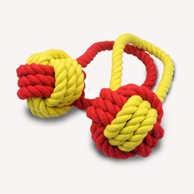 High quality cotton rope weaving pet toys, color bright, woven into a ball, a dog chew toys, large dog amusement toys