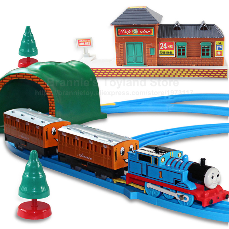 Thomas&Friends Electric Railway Trains System Children's Creative Track Toys Train Trackmaster Tramroad Model Packing Set
