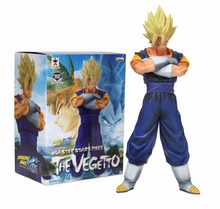 Venda quente Estrelas Mestre Pedaço Goku Vegeta Banpresto Dragon Ball Kai Mesclar Super Siayan O Vegetto 28 cm Action Figure(China)