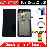 Black LCD TP Frame For Xiaomi Redmi2 Redmi 2 LCD Display Touch Screen Digitizer Assembly Frame