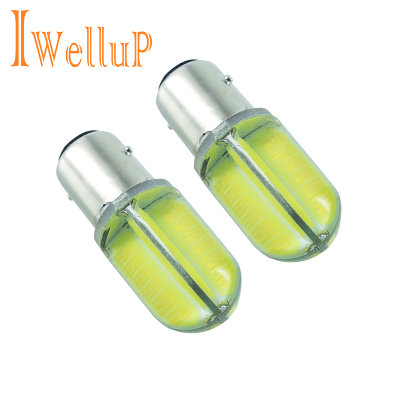 Car styling Newest 2 PCS p21w 1156 ba15s 8COB LED car tail bulb brake light auto reverse lamp drl fog lights 12v led for Lada