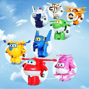 4pcs/lot kids toys robot Transform festival gifts deformation helicopter fire truck police action figure doll boys and girls toy
