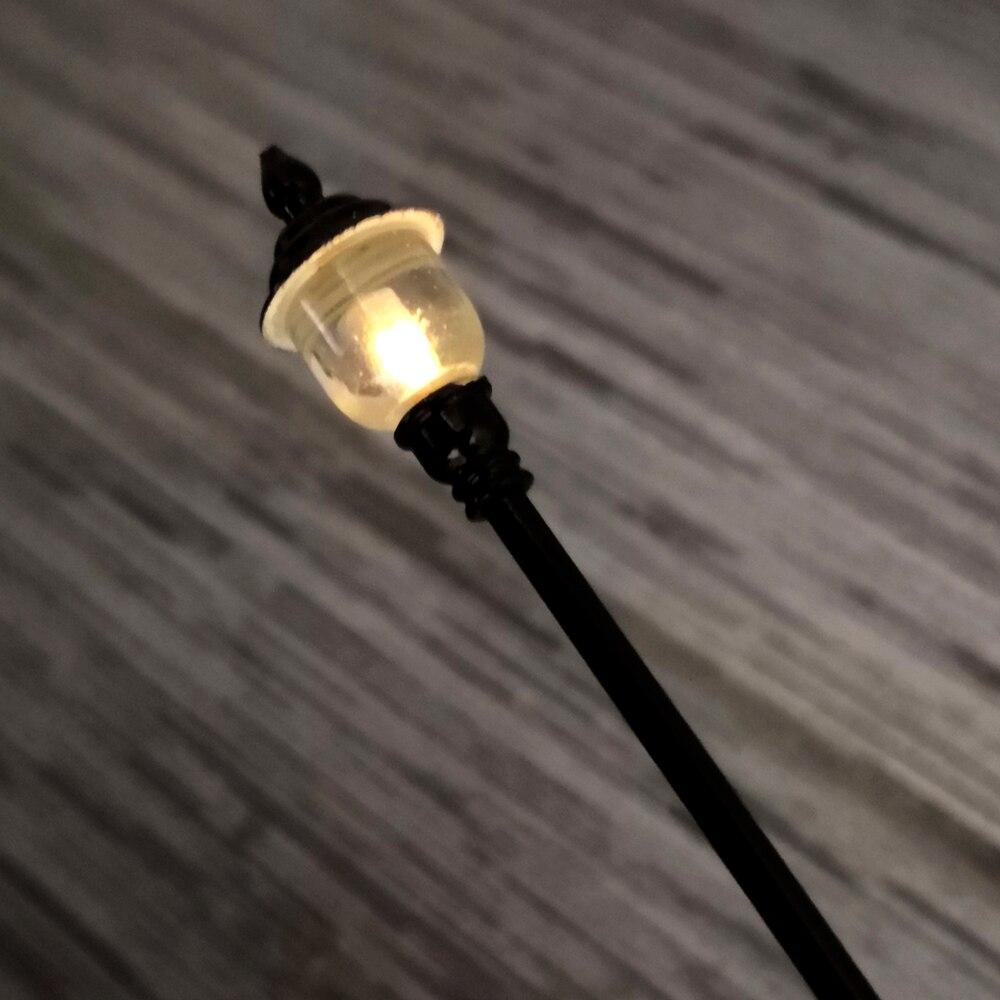 3 PCS HO Scale 12V Model Railway Lamppost LED Park Lanterns Street Lamp/Model  Yard Lamp Post/Train/Railway Layout