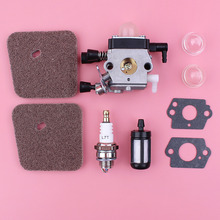 Carburetor Carb For Stihl FS85 FS80 R FS76 FS75 FS74 FC55 FS55 FS46 FS45 FS38 Trimmer Part Air Fuel Filter Primer Bulb Kit цены онлайн