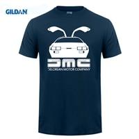Gildan西洋ティーシャツ通気性dmc deloreanバック·トゥ·ザ·フィルムブラック用男性tシャツニースguysにとってクールtシャ