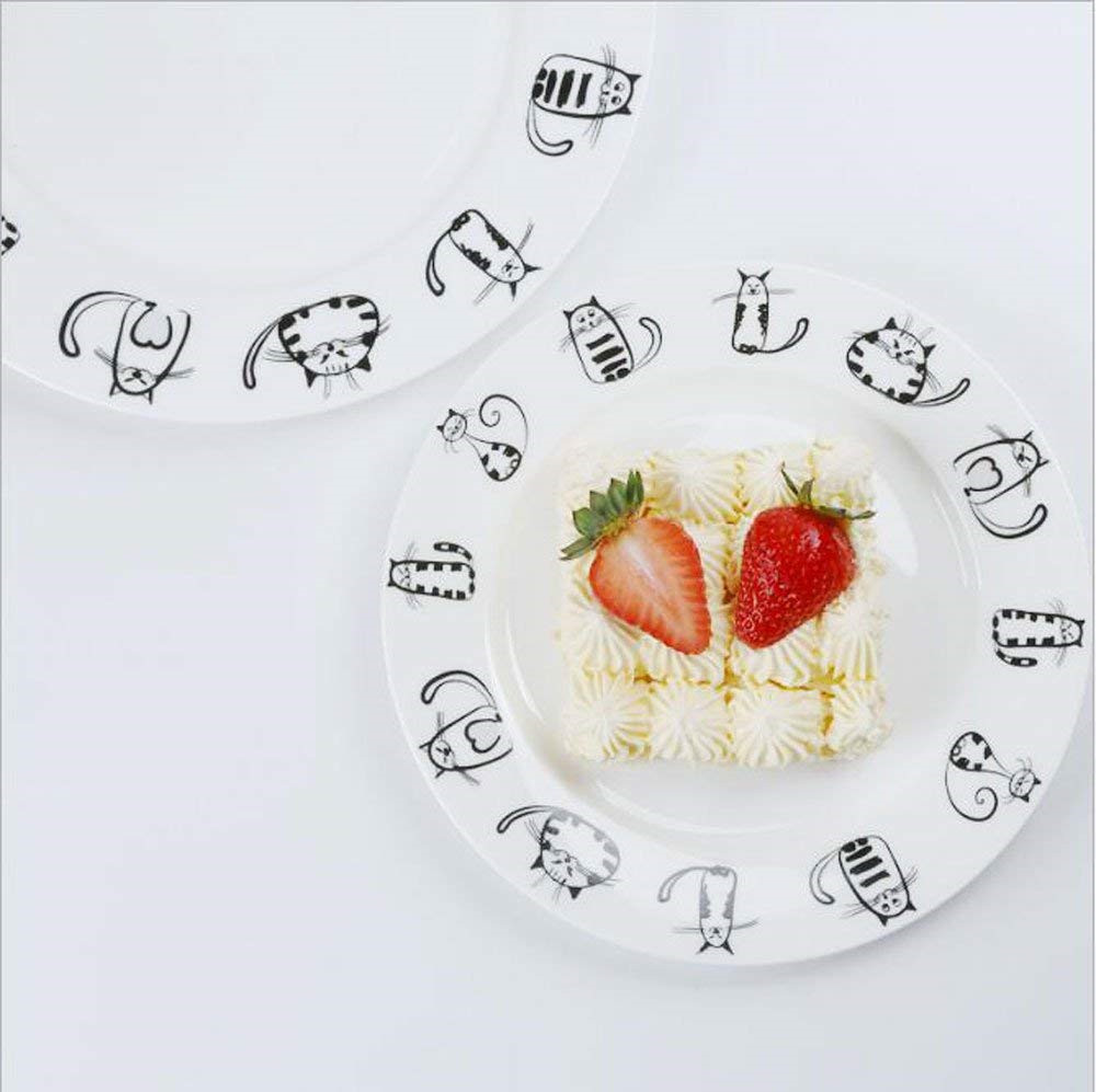 Cute Ceramic Cat Designed Dinner Dish Set