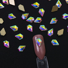 Nail jewelry 10 AB drill multi-shape nail shop dedicated 3D gold flat color diamond manicure tool