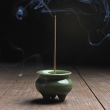 Mini Celadon Incense Burner Incenso Crackle Vintage Home Accessories