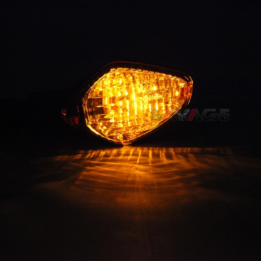 Compatible con Honda CRF 250 L par de Intermitentes LED 12 V universales para Moto Lampa 90101 Indicador de direcci/ón Negro homologado E13 luz Naranja