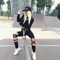 Moda mulher Sportswear Hoodies + Bezerro-Comprimento Calças 2 Peças Set Mulheres Sportsuit Treino Ternos Esportivos Casuais à venda