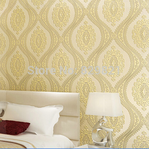 Flower Wallpaper 3D Modern Luxury Damask Floral Wall Paper Textured For Bedroom TV Background Decorative