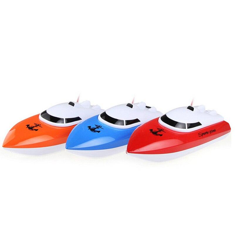 Πλαστικά Speed Racing RC Σκάφος 4 καναλιών RC Σκάφος Παιχνίδια Τηλεχειριστήριο Πλοίο Ανοιχτό Racing Ταχύπλοο Παιχνίδια για Παιδιά Δώρα