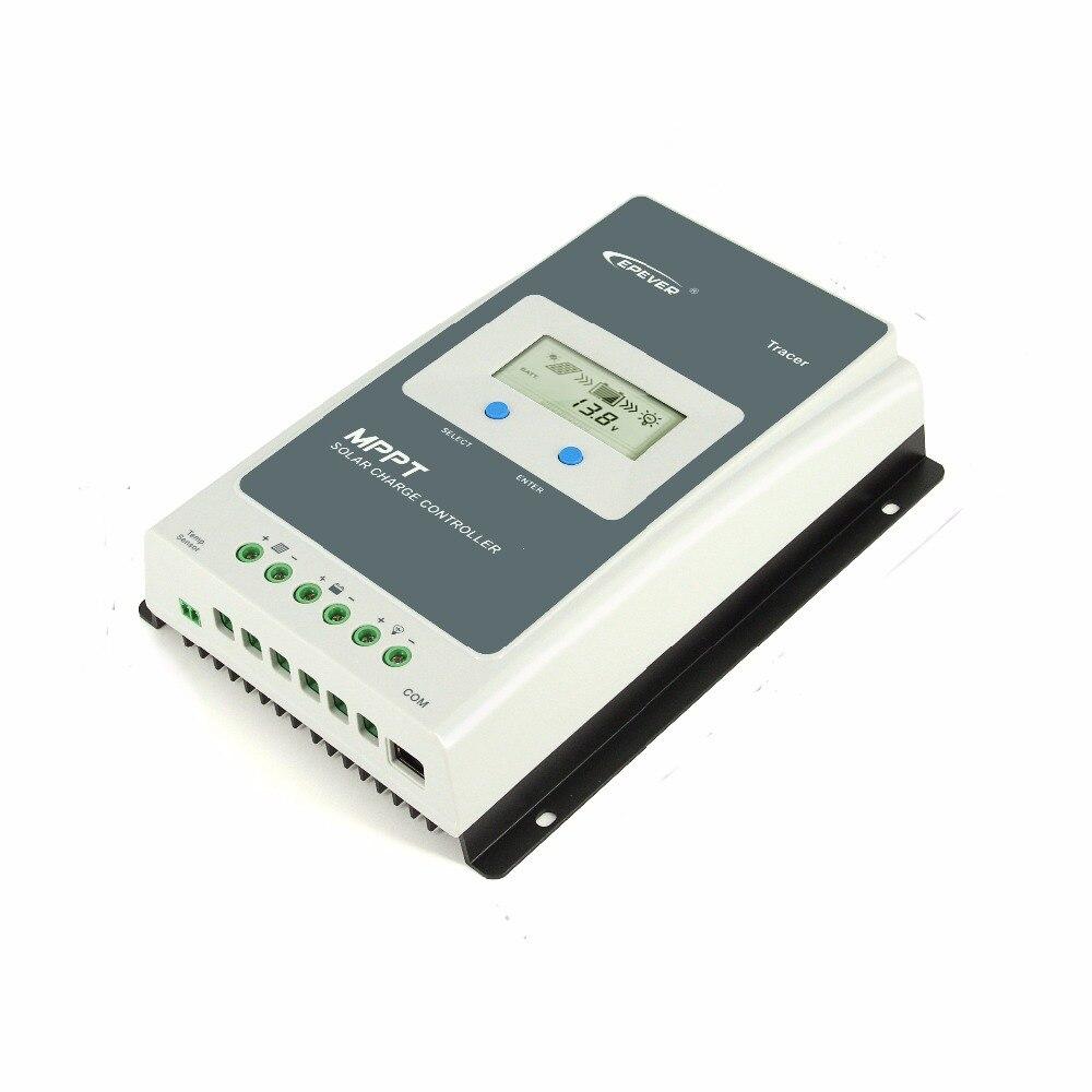 EPever MPPT 40A/30A/20A/10A Solaire régulateur de charge Noir-Lumière LCD régulateur solaire pour 12 V 24 V Au Plomb Au Lithium-ion Batteries - 3