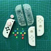 Para Nintendo Switch Console Joy con carcasa blanca piezas de repuesto DIY Shell transparente joycon NS interruptor Joystick