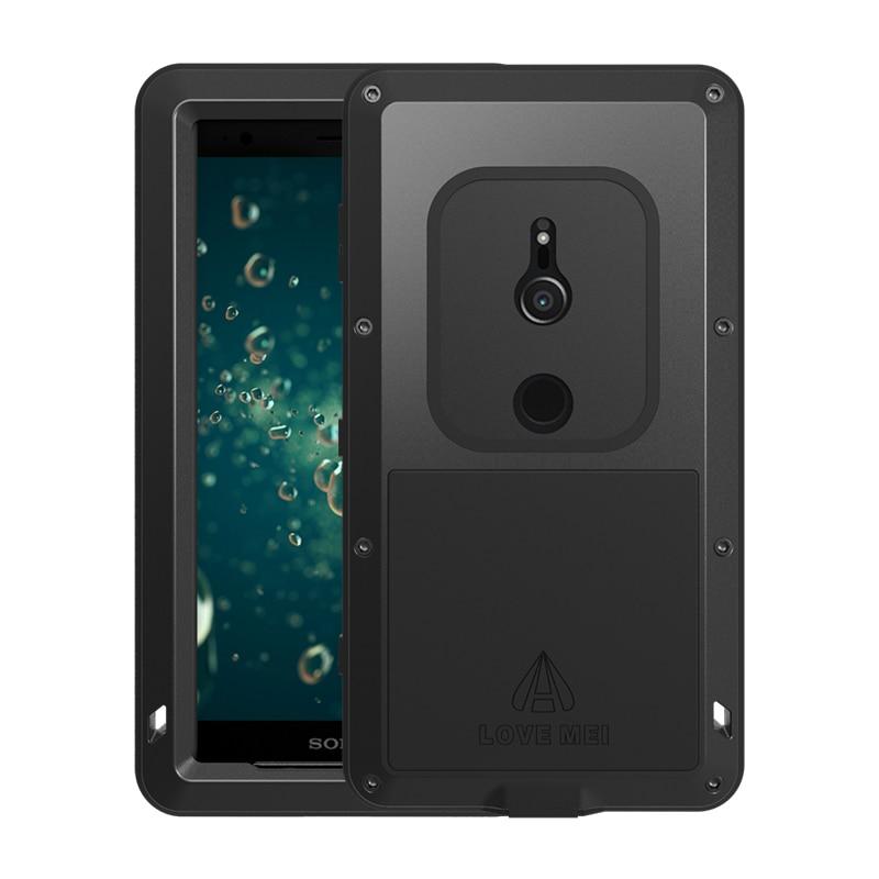 Love Mei étui étanche pour Sony Xperia XZ2 5.7 pouces en aluminium antichoc pour Sony Xperia XZ2 Compact 4.6 pouces étuis téléphone couverture