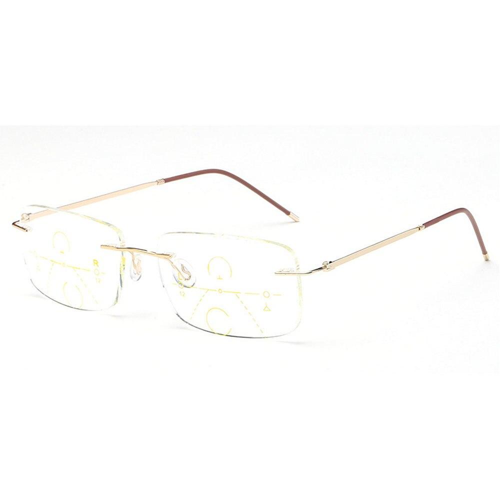 da8b855fe02f7 Reven Jate J81688 Semi lamer gafas de forma libre progresivo Anti-blue Ray lectura  Presbyopia