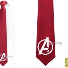 """Мужские жаккардовые галстуки с символами Мстителей, узкие галстуки 2,"""", 6 см, галстуки для свадебной вечеринки, галстук для жениха, запонки LK034M"""