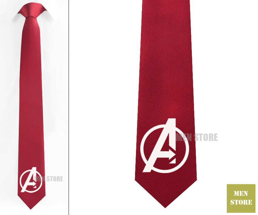Avengers Symbol Men Jacquard Woven Skinny Slim Narrow 2.3