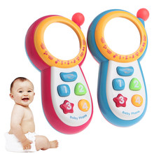 1 PC Baby Kids Learning Study Musical Sound Cell Phone Educational Mobile Toy Phone(China)