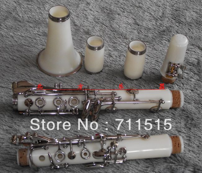 цены 17 key buffet bakelite clarinet in B flat surface white color clarinete oboe fast shipping