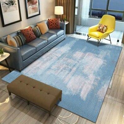 Salon table basse tapis peluche chambre complet chevet couverture rectangulaire simple moderne tapis haut de gamme épais corail polaire tapis - 3