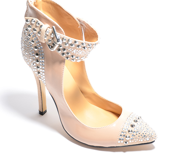 2013  fashion diamond-ironing  high heel  12cm  Cingulate  Noble women shoes  Gorgeous  Pointed  party shoes