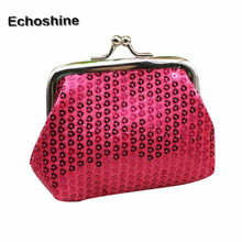 Lightweight, portable and fashionable Womens Small Sequin Wallet Card Holder Coin Purse Clutch Handbag Bag gift wholesale