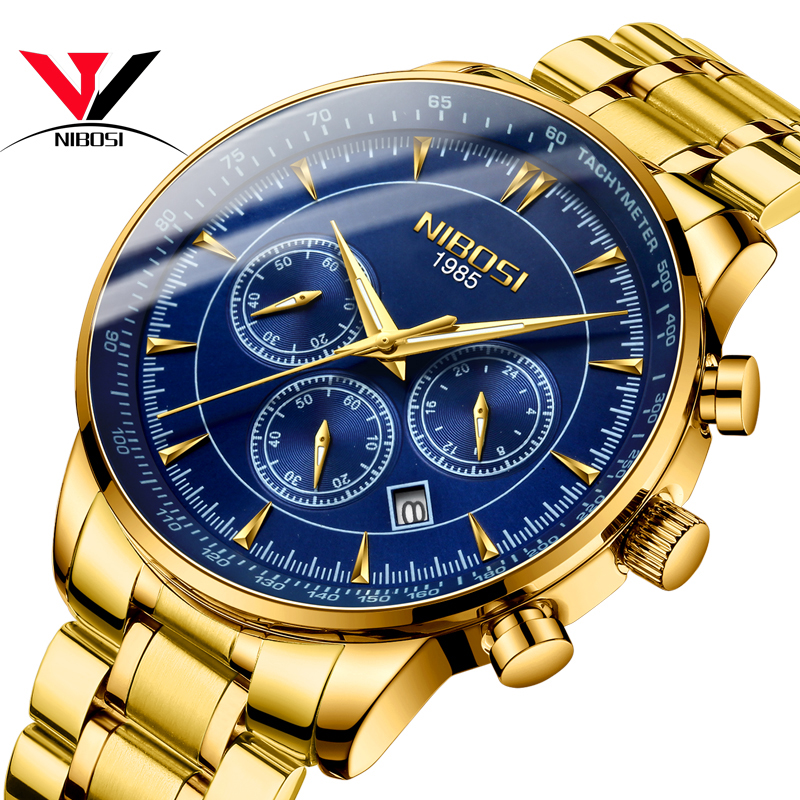 NIBOSI Business Watches For Men 2019 Top Brand Luxury Relogio Masculino Chronograph Mens Watches Waterproof Sports Male Clock   NIBOSI Business Watches For Men 2019 Top Brand Luxury Relogio Masculino Chronograph Mens Watches Waterproof Sports Male Clock