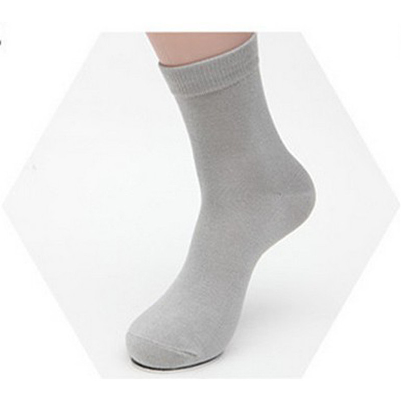 New Cotton & Bamboo Fiber Classic Business Mens Socks Mens Deodorant Dress Socks Pure Colour Breathable socks 3 paires/lot