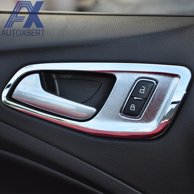 Ax chrome inner door handle catch cover bowl frame trim - 2013 ford escape interior door handle ...