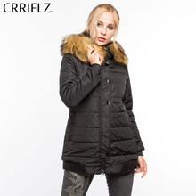 Lange Parka Vrouwelijke Womens Winter Jas Jas Warme Jas Dames Parka Faux Fur Hooded Jas(China)
