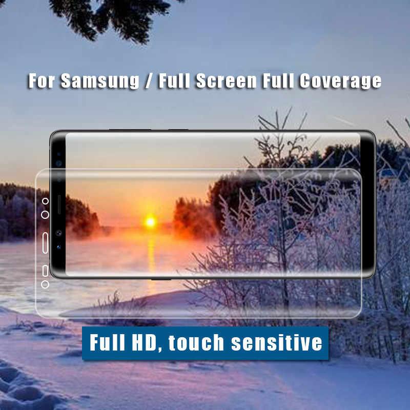 10 قطعة/الوحدة الزجاج المقسى واقي للشاشة لسامسونج غالاكسي ملاحظة 9 8 S9 S8 زائد S7 S6 حافة A9 A8 A6 زائد 2018 3D التغطية الكاملة
