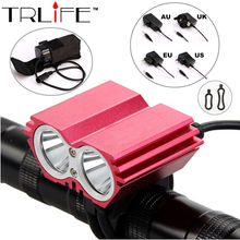 Security 5000 Lumen Waterproof Cree XML T6 U2 LED Bicycle Light Bike Light Lamp + Battery Pack + Charger 4 Switch Modes