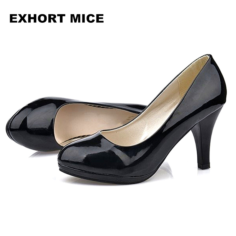 Large size 34 -42 Super High Women Shoes Pointed Toe Pumps Dress High Heels Boat Wedding Shoes   Increase Waterproof platformLarge size 34 -42 Super High Women Shoes Pointed Toe Pumps Dress High Heels Boat Wedding Shoes   Increase Waterproof platform