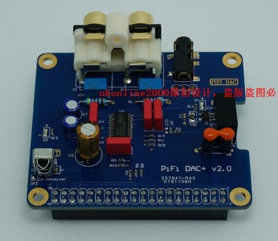 Alta definição hifi dac i2s interface especial, hifi dac placa de som modulecompatível com raspberry pi b + pi2