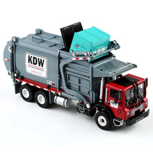 New 1:24 Scale Diecast Material Transporter Garbage Trucks KDW Model Toy Gift ss 008 1 35 israel achzarit heavy armored transporter later model building kit toy