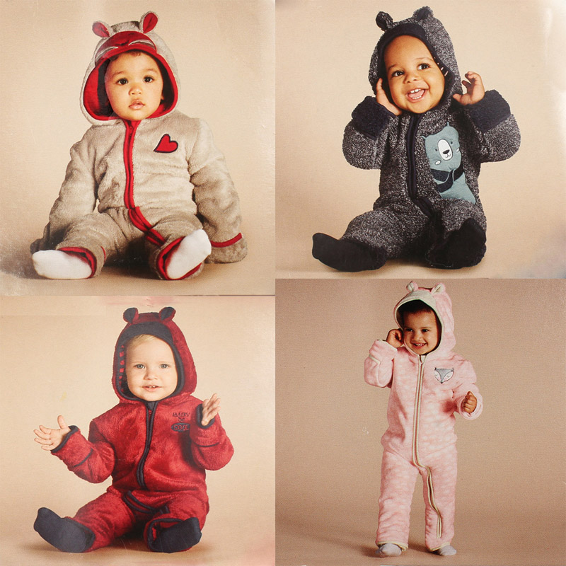 one-pieces baby boy/girl jumpsuit children clothes hoodie cashmere Rompers warm overall girl thick jacket coat kids bod ysuit glasgow k girl in pieces