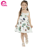 Girls Summer Dress 2018 New Arrival Print Flowers Patchwork Layered Dresses For Girl Kids Clothes Casual