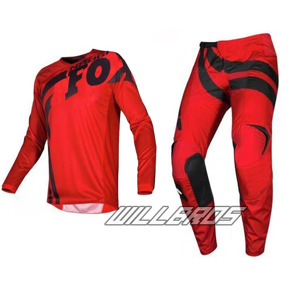 MX 180 Cota Red Jersey & Pant Combo ATV Dirt Bike Motocross Wear Adult Gear Kit