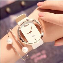 Runerr Women Bracelet Watch Leather Crys