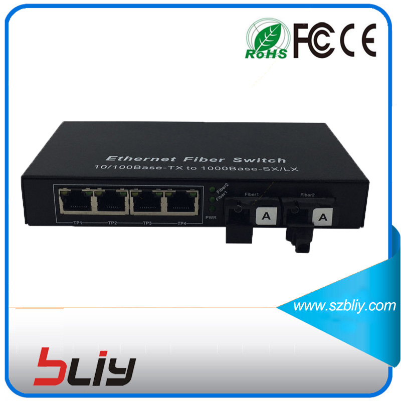 4 Poe rj45 port 10/100M gigabit unmanaged ethernet poe fiber optic converter IEEE802.3af for ip camera poe switch installation fiber poe switch with 4 rj45 gigabit port for ip camera cctv camera 1 pair