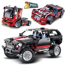DECOOL 3341 3360 3354 TECHNIC Race Truck Car motor sets Model Building Blocks Bricks Toys for children